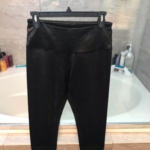 Black Zella leggings size M metallic shimmer